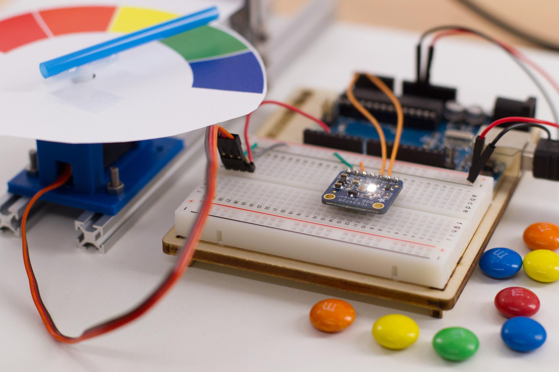 Farben erkennen mit dem RGB Sensor TCS34725 und dem Arduino