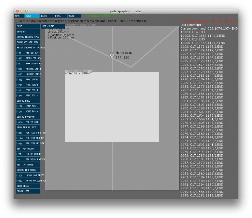 Polargraph Software Konfiguration Setup