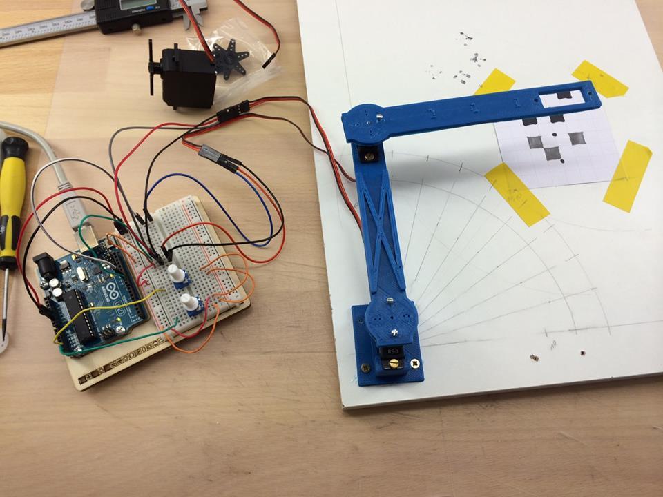 2D Arm mit 2 Servos und Arduino