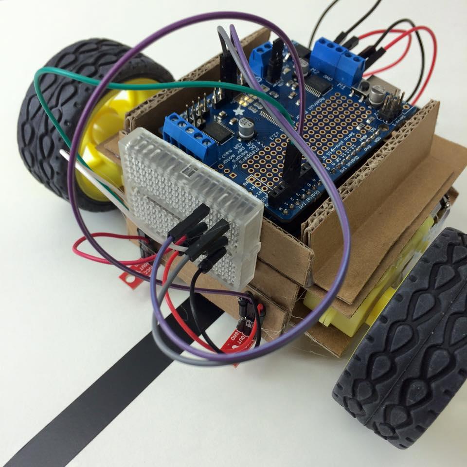 Cardubot linea einfacher line follower roboter mit