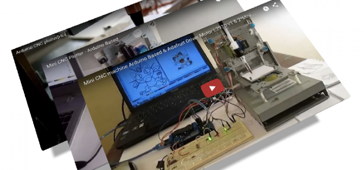 CD/DVD Drive Mini CNC Plotter – Rebuilds und Verbesserungen