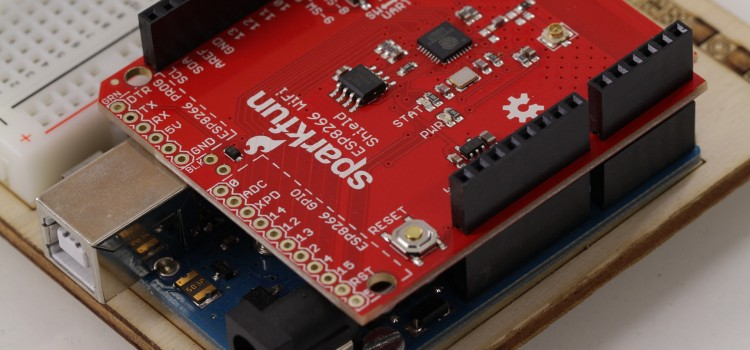 Das ESP8266 Wifi Shield für Arduino von Sparkfun im Überblick