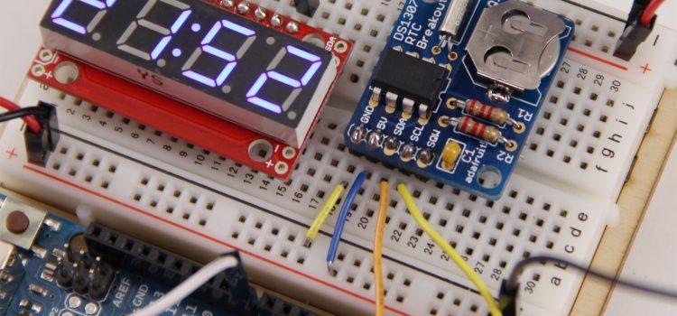 Echtzeituhr (Real Time Clock) DS1307 am Arduino
