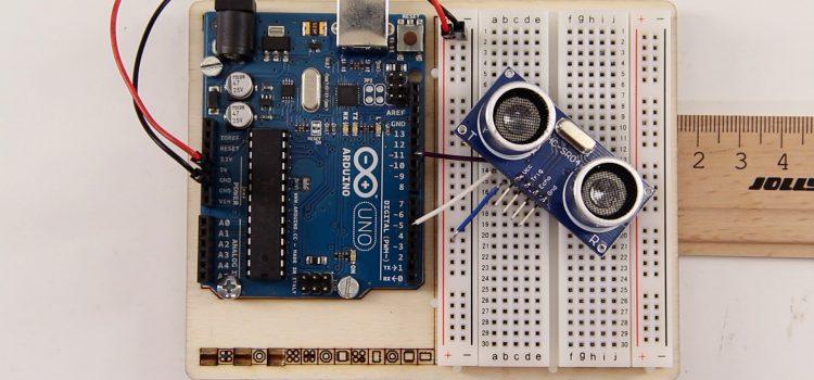 HC-SR04 Ultraschall-Entfernungssensor am Arduino