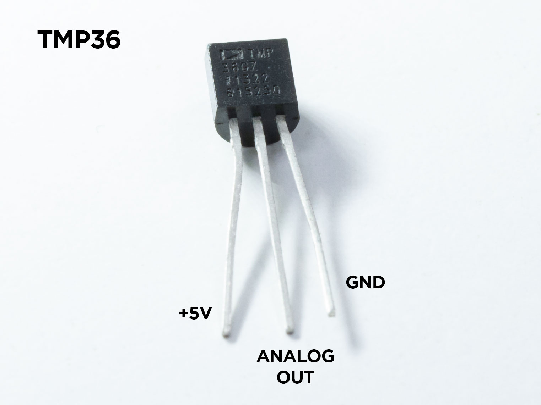 TMP36 Temperatursensor mit Pinbelegung