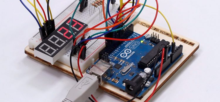 Arduino Thermometer mit TMP36 Temperatursensor und 7-Segment-Display