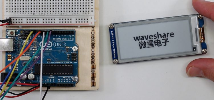 Waveshare 2,9″ e-Paper Display am Arduino UNO