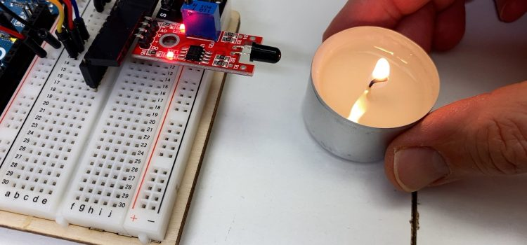 Feurige Arduino Jukebox mit  Flammensensor KY-026 und Buzzer