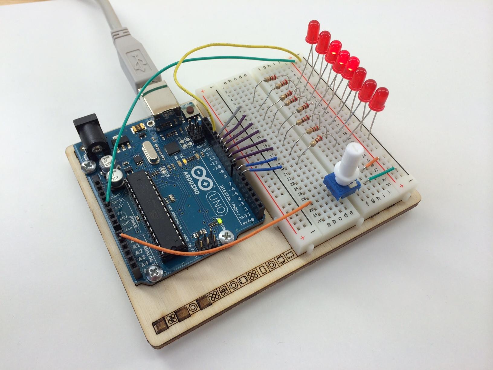 Arduino LED Lauflicht – Knight Rider…